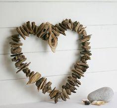 Cute driftwood heart