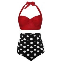 Angerella Women Vintage Polka Dot High Waisted Bathing Suits Bikini . Having lots of sizes meet everyone's demand.       Like it? Shop now !