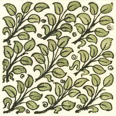 William de Morgan Flying Leaves tile.