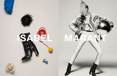 Natasha Poly poses in Isabel Marant's fall-winter 2015 campaign
