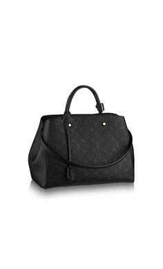 Montaigne GM via Louis Vuitton durable opera leather - good review: https://www.youtube.com/watch?v=xziWdXUxwCI