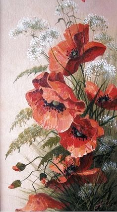Simple Acrylic Paintings, Acrylic Painting Canvas, Canvas Art, Poppy Flower Painting, Flower Art, Poppies Painting, Art Floral, Watercolor Print, Watercolor Paintings