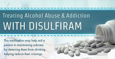 When you consume alcohol it is converted to acetaldehyde and your body works towards rapidly removing it from your system. Disulfiram works by binding itself to the sites where coenzymes that aid in this metabolic process reside. This blocks the oxidation of acetaldehyde to acetate to inhibit your body's metabolism of alcohol. #alcoholabuse #alcoholism #sobriety
