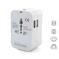 Worldwide Power Adapter and Travel Charger with Dual USB ports that works in 150 countries    #WallCharger #Electronics #BestSellers