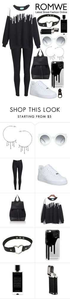"""dripping"" by loveselena22 ❤ liked on Polyvore featuring Annika Burman, NIKE, Mansur Gavriel, Casetify, Agonist and Full Tilt"