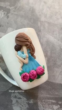 Princess Party Favors, Tea Party Favors, Birthday Favors, Polymer Clay Tools, Polymer Clay Flowers, Fimo Clay, Clay Jar, Clay Mugs, Handmade Wedding Favours