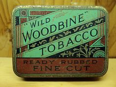 "#Vintage ""Wild Woodbine"" #Tobacco Tin #Packaging"