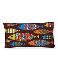 Look at this #zulilyfind! School of Fish Pillow #zulilyfinds