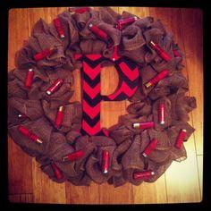 Chevron shot gun shell wreath :) Jingle Bells...Shotgun Shells.....