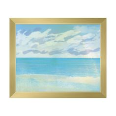 Click Wall Art Azure Scenery Framed Painting Print on Canvas