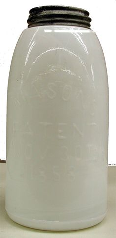 Just WOW - a milk glass Mason jar! Two of my favorite things- what I would give to own this.
