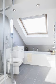 43 Useful Attic Bathroom Design Ideas Attic renovation bathroom ideas Attic Shower, Small Attic Bathroom, Attic Bedroom Small, Loft Bathroom, Upstairs Bathrooms, Bathroom Interior, Modern Bathroom, Industrial Bathroom, Master Bathroom