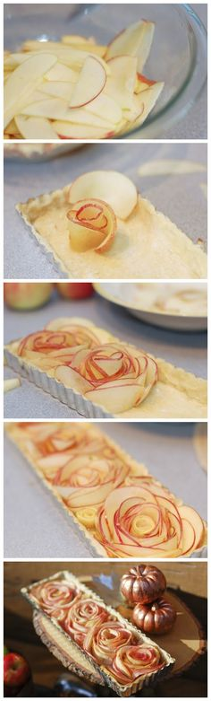 Rose apple tart...if I ever have time for something like this. ...well that's pretty!