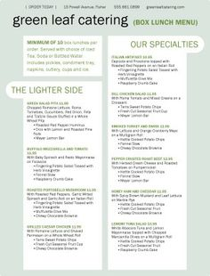 catering menu ideas   wildthymecafe.co.uk   Wild Thyme Cafe ...