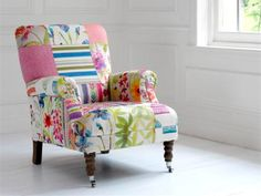Patchwork chair, would love something like this in my little craft room