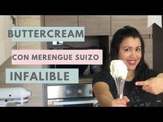 Buttercream de Merengue Suizo - A Prueba de Errores - YouTube Fondant Icing, Frosting, Oreo, Youtube, Sweets, Cakes, Appetizers, Baking, Swiss Meringue