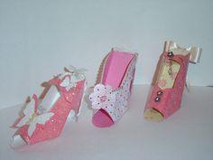 High Heel Shoe Keepsake Favor  Gift Box OOAK by craftticlecreation, $12.00