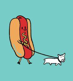 Double Dog Art Print