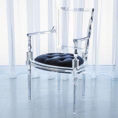 Global Views Marilyn Acrylic Arm Chair