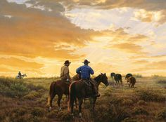 Tom Cox often paints a lot of sky in his paintings.