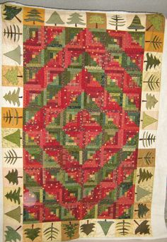 Inch by Inch Quilting: Christmas Log Cabin Quilt