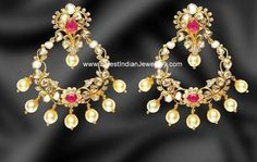 Chand Bali Earrings with Polkis