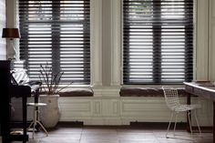 West Elm Customer Service for a Rustic Home Office with a Butterfly Blinds and Butterfly Blinds by Budget Blinds