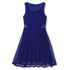 Xhilaration® Junior's Lace Fit & Flare Dress - Assorted Colors