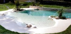 Whether or not a pool adds value to a home is dependent on where your home is. If you're planning to put in a pool, employ a reliable pool contractor. The shimmering swimming pool and lovely … Small Backyard Pools, Backyard Pool Designs, Small Pools, Swimming Pools Backyard, Swimming Pool Designs, Pool Landscaping, Lap Pools, Indoor Pools, Backyard Beach