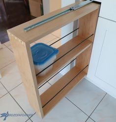 Hidden Kitchen Storage: Turn a Filler Panel Into a Pull-Out Cabinet!