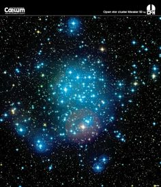 "Open star cluster Messier 50 in the constellation Monceros. (Credit: Canada-France-Hawaii Telescope / Coelum) Mona Evans ""Monoceros the Unicorn"" http://www.bellaonline.com/articles/art182324.asp"