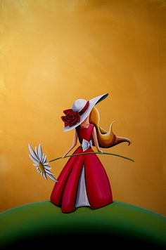 The Flower Girl Art Print | By Cindy Thornton