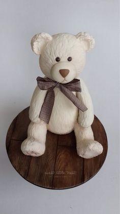 Teddy Bär - eigentlich Kuchendeko - geht aber auch mit Fimo zu machen