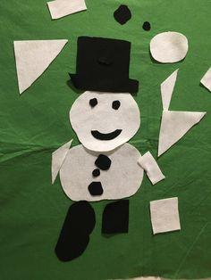 Felt shapes on a felt wall allows kids to create their own designs. Snowman edition at ARTitorium for December Interactive Art, Snowman, Broadway, December, Felt, Kids Rugs, Shapes, Create, Design