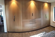 Rift-sawn white oak built-in closet Build A Closet, Bed In Closet, Bath Remodel, White Oak, Armoire, Modern Furniture, Beach House, Boston, Woodworking