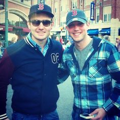 Emmet & Colm at the Red Sox game - emmet-cahill Photo