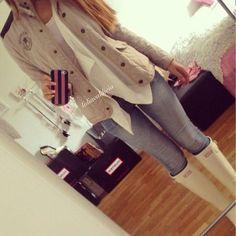rainy days - love the light denim skinny  jeans