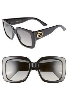 95fc4e6b84 Women's Gucci 53Mm Square Sunglasses - Black/ Grey. NegroGafas De Sol ...