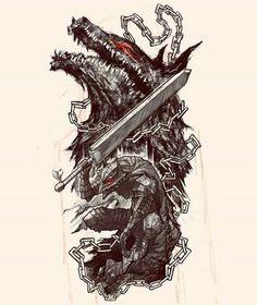 Berserk Manga Art, Manga Anime, Anime Art, Dark Fantasy Art, Dark Art, Wie Zeichnet Man Manga, Character Art, Character Design, Dark Souls Art