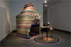 xenobia bailey | xenobia bailey crochet tent 400x266 Living Inside of Crochet ...