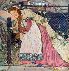 """""""Ann Macbeth - Scottish artist and embroiderer working in the art Nouveau style who was a member of artistic group Glasgow Girls Briar Rose, Art And Illustration, Glasgow Girls, Blog Art, Fairytale Art, Female Art, Art Nouveau, Illustrators, Fairy Tales"""