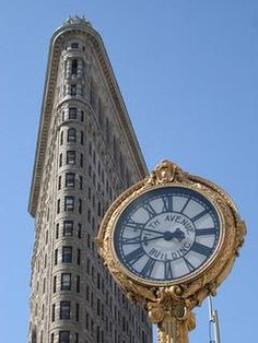 The Fifth Avenue Building Clock, outside the Flatiron building in NYC