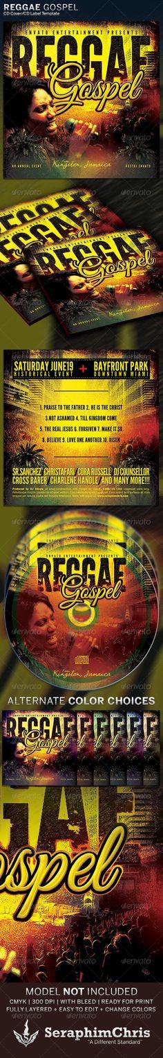 Reggae Gospel : CD Cover Artwork Template — Photoshop PSD #celebration #DJ promotion • Available here → https://graphicriver.net/item/reggae-gospel-cd-cover-artwork-template/6324827?ref=pxcr