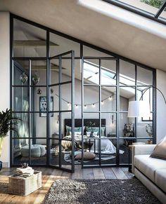 1 Zimmer Wohnung Beds: Smart Buying Tips You might lik Loft Design, Home Interior Design, Home Bedroom, Bedroom Design, House Design, Loft Style Bedroom, Interior Design, House Interior, Interior Architecture