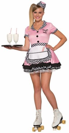 Adult Pink 50's Waitress Trixie Sue Costume - Candy Apple Costumes