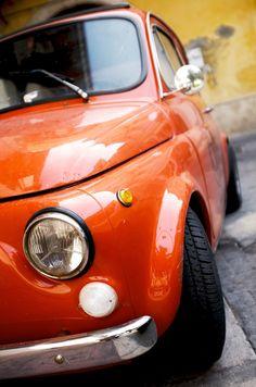 Vintage Fiat 500. Italy. Italian car. cinquecento.