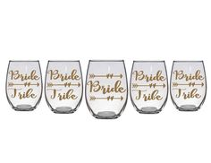Bride Tribe Wine Glasses Bridal Party Wine by acupabovetherest