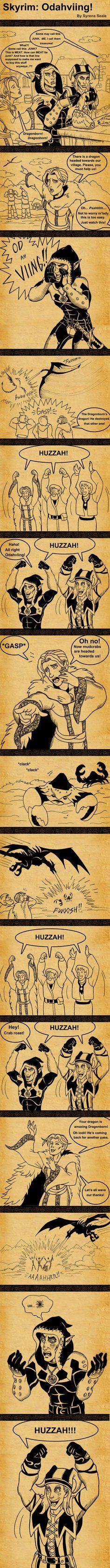 Hahaha! I love Cicero. Skyrim Odahviing by =SlayerSyrena -  Elder Scrolls V: Skyrim