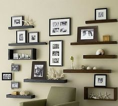 Frame ledges with a beachy theme....beautiful!