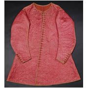 Men's silk jacket, Enland, 1640-45. This waistcoat is made from pink satin hand-quilted in a diamond pattern. It is said to have been worn by Charles II, when Prince of Wales who left it behind, together with a nightcap and shoes, when he was staying with Sir Thomas Veel, at Alveston, Gloucestershire, in 1645. Charles was in charge of the Royalist forces fighting in the West Country at the time.
